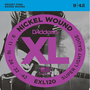 Daddario EXL120 Nickel Wound, Super Light, 9-42